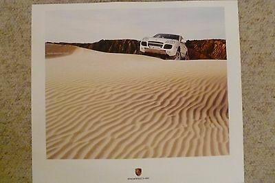 2006 Porsche Cayenne Showroom Advertising Sales Poster RARE!! Awesome L@@K