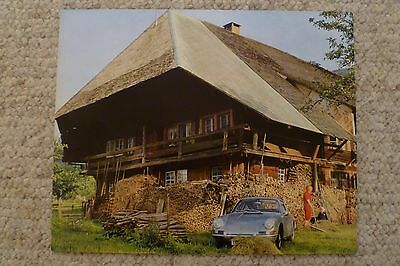 1967 Porsche 911 / 912 Coupe Showroom Advertising Sales Poster RARE Awesome L@@K