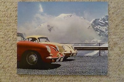1964 Porsche 356 Coupe Showroom Advertising Sales Poster RARE!! Awesome L@@K
