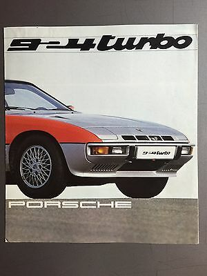 1980 Porsche 924 Turbo Showroom Sales Folder / Brochure English (GB) RARE!! L@@K