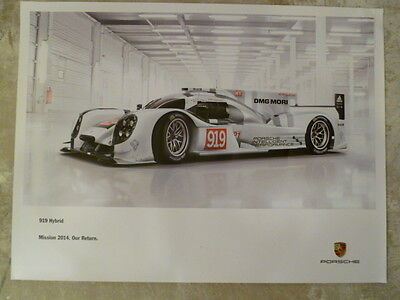 2014 Porsche 919 Le Mans Hybrid Showroom Advertising Poster RARE!! Awesome L@@K