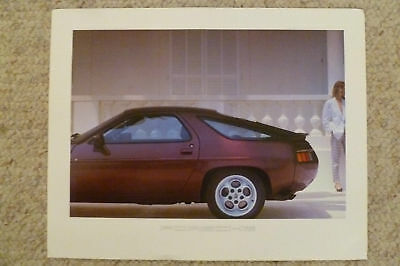 1984 Porsche 928 Showroom Advertising Poster RARE!! Awesome L@@K