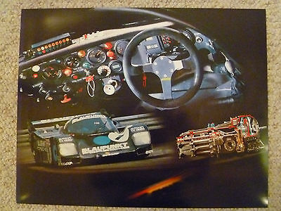 1987 Porsche 962 C Coupe Showroom Advertising Sales Poster RARE!! Awesome L@@K