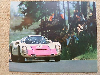 1968 Porsche 908 Coupe Showroom Advertising Poster RARE!! Awesome L@@K