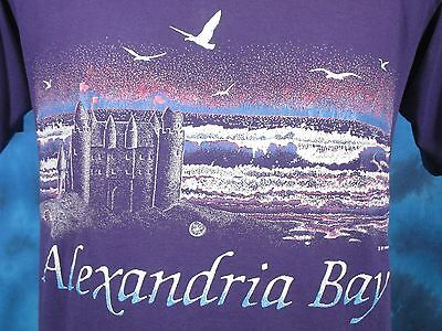 vintage 80s ALEXANDRIA BAY DISTRESSED PAPER THIN T-Shirt M beach new york 90s