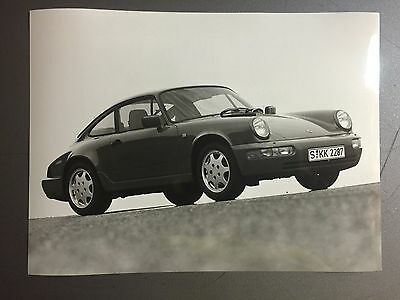 1990 Porsche Carrera 2 Coupe B&W Press Photo Factory Issued RARE!! Awesome