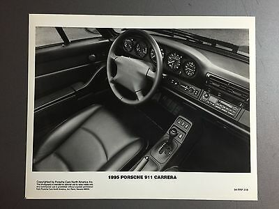 1995 Porsche 911 Carrera Interior Press Photo PCNA Issued RARE!! Awesome L@@K