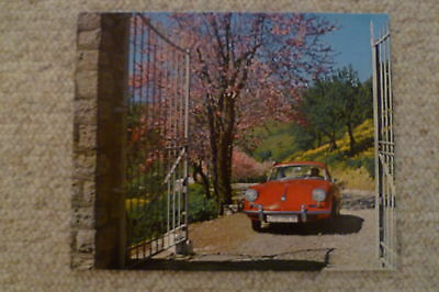 1965 Porsche 356 Cabriolet Showroom Advertising Sales Poster RARE! Awesome L@@K