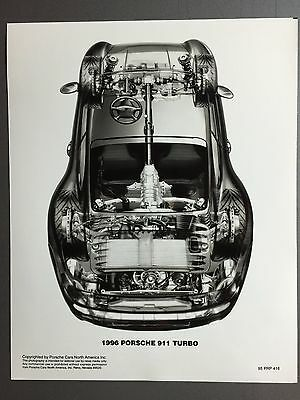 1996 Porsche 911 Turbo Coupe B&W PCNA Issued Photo Photo RARE!! Awesome L@@K