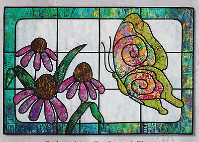 Butterfly Heaven - applique & pieced quilt PATTERN - Stained glass style