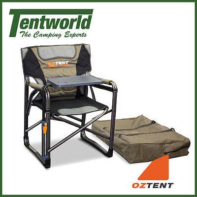 Oztent Gecko Directors Chair with Side Table