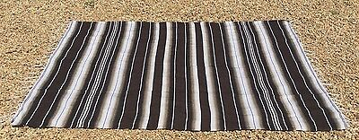 """Mexican Blanket Sarape Multi-Color Brown #2  """"84x60"""" Made in Mexico."""