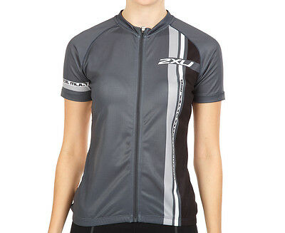 Women's 2XU Sublimated Cycle Jersey - Black/Charcoal