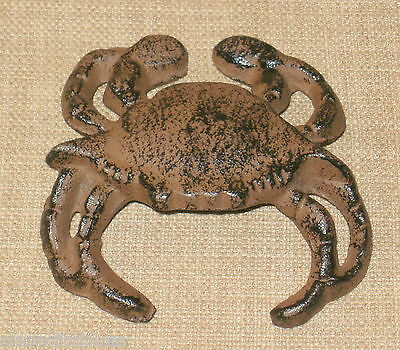 NEW~Cast Iron Crab Figurine Wall Hanging Paperweight Nautical Sea Life Coastal