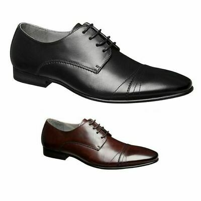 Mens Julius Marlow Yankee Men'S Black Brown Leather Lace Up Work Dress Shoes