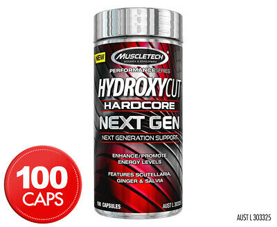 MuscleTech Hydroxycut Hardcore Next Gen Weight Loss Support 100 Caps