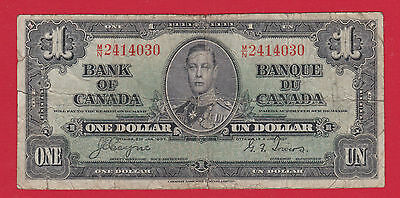 Prefix MN 2414030 Bank of Canada 1937 $1 Note   Coyne Towers     $10