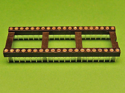4x IC SOCKET 40 pin Turned Pin Gold Plated PCB DIL 0.6""