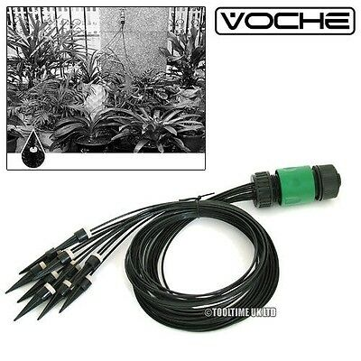Voche® 10Pc Micro Irrigation Watering Kit Automatic Plant Pot Water Drip System