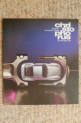 Porsche Christophorus Magazine English #206 June 1987 RARE!! Awesome L@@K