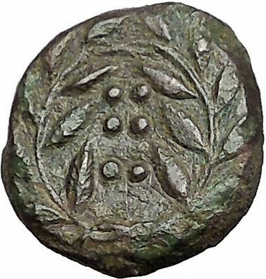 HIMERA in SICILY 415BC NYMPH & Success Wreath Genuine Ancient Greek Coin i55847