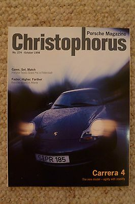 Porsche Christophorus Magazine English #274 October 1998 RARE!! Awessome L@@K