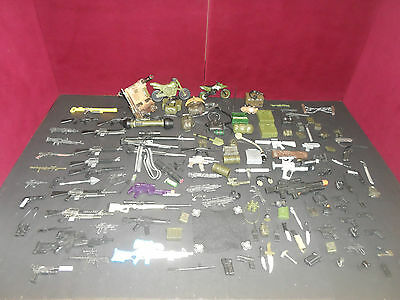 HUGE Lot of GI Joe, Lanard etc Military Action Figure Weapons & Accessories