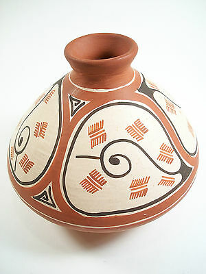 Vintage Hand Painted & Decorated Ceramic Pot - Venezuela - Late 20th Century