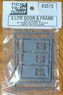 Tichy Train Group #3515 (S Scale) Doors w/Separate Frame & Glazing -- 36 x 80""
