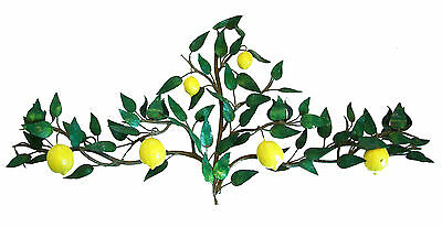 Massive Tole 'Lemon Tree' Wall Sconce - Four Lights - Italy - Mid 20th Century
