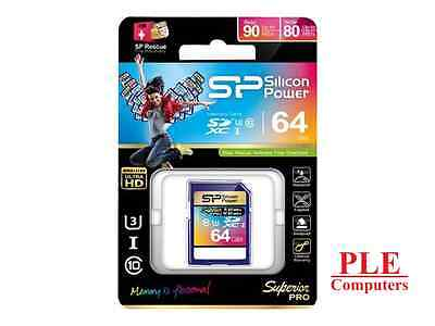 Silicon Power 64GB Superior Pro UHS-3 SD Card[SP064GBSDXCU3V10]