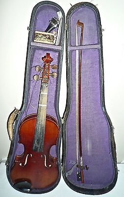 Antique 4-String 3/4 Violin with Original Bow & Case - Musical History