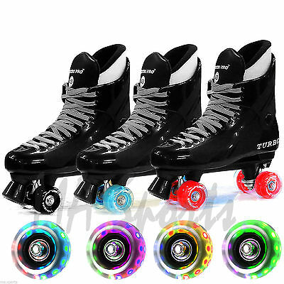 Flashing California Ventro Pro Turbo Quad Roller Skates Lightning UK Sizes 1-11