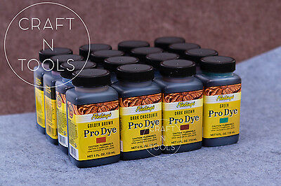Fiebing's Pro Oil Leather Dye (16 colors) 4oz/118ml. Fiebing Leather Pro Dye