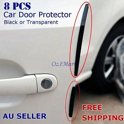 8 Pcs Black Car Side Door Edge Defender Protector Trim Guard Protection Strip