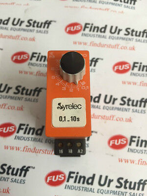 Syrelec BAR.F24V Time Delay Relay 0.1-10s - Removed From A Working Machine