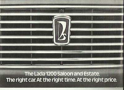 LADA 1200 SALOON & ESTATE MID 70's - ONE OF THE 1st UK BROCHURES - SATRA MOTORS