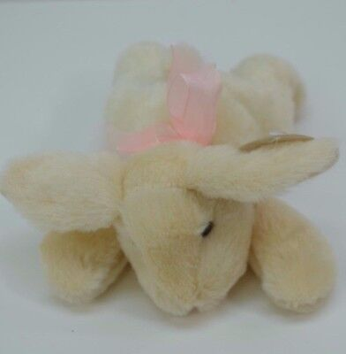 Homerbest Chocolate Scented Bunny Plush Off White Pink Bow Brand New with Tags!