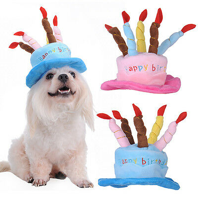 Cute Birthday Cat Caps Pet Puppy Custome Hat for Small Dogs Pet Headwear