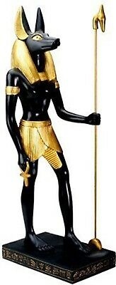 "16"" Large Anubis Ancient Egyptian God Decorative Collectible Statue Figurine"