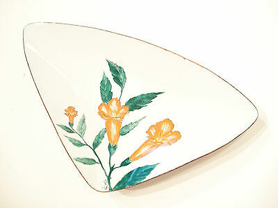 KING - Mid Century Enamel on Copper Serving Dish - Signed - 20th Century