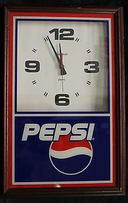 Pepsi Cola Wall Clock by Hanover (A) Nice Wooden Frame