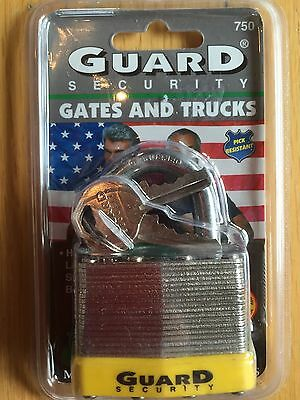 "Guard Security No. 750 Steel 1-3/4"" Padlock with 2 Keys - New ""Unopened"""