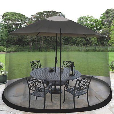 11′ Outdoor Umbrella Table Patio Screen Mosquito Insects Bug Picnic Netting New