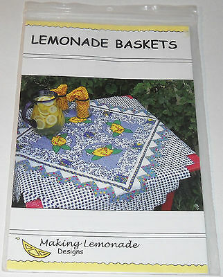 Lemonade Baskets Quilt Pattern by Making Lemonade Designs