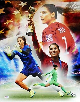 Hope Solo Autographed Signed 16X20 Photo Team Usa Psa/dna Stock #104209