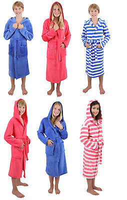 Betz Children Hooded Bathrobe striped or uni Colours: blue and pink