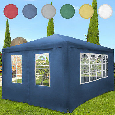 Gazebo Garden Marquee Party Wedding Tent Pavilion Awning Outdoor Terrace 3x4m