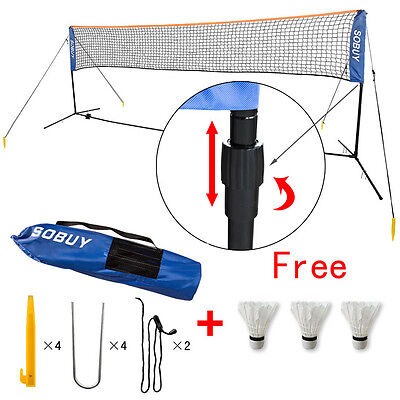 SoBuy®Height Adjustable Tennis Net,Badminton Net with Stand Frame,300cm,SFN01,UK