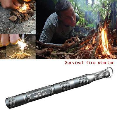 Cool Survival Spark Emergency Magnesium Fire Starter Camping Tool Flint Rod Grey